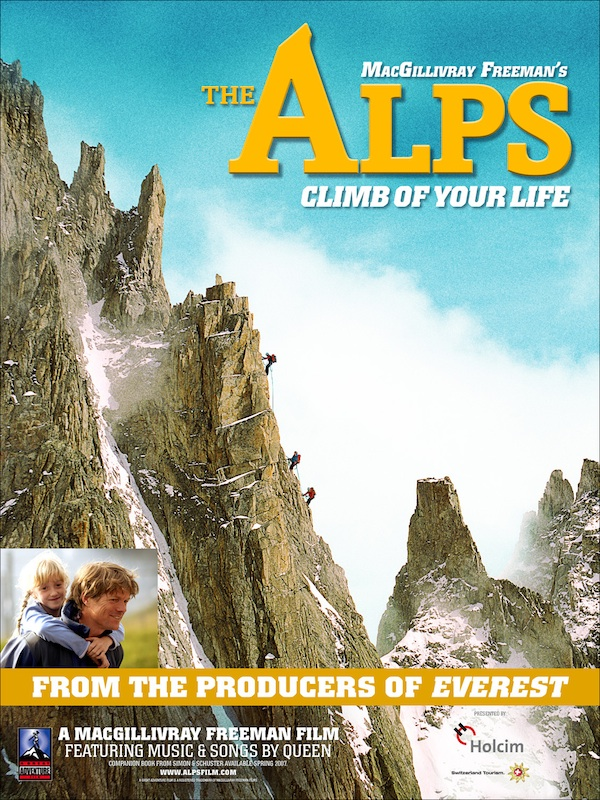 The Alps movie poster with Siena and John.